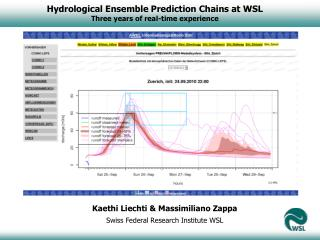 Hydrological Ensemble Prediction Chains at WSL Three years of real-time experience