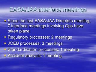 EASA/JAA interface meetings