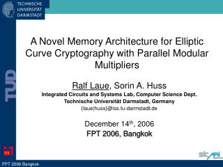 A Novel Memory Architecture for Elliptic Curve Cryptography with Parallel Modular Multipliers