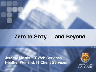 Zero to Sixty … and Beyond