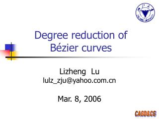 Degree reduction of  Bézier curves