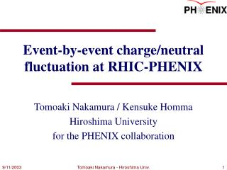 Event-by-event charge/neutral fluctuation at RHIC-PHENIX