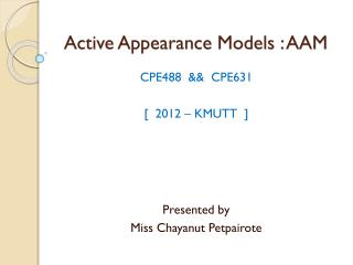 Active Appearance Models : AAM