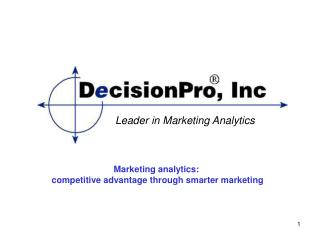 Leader in Marketing Analytics