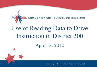 Use of Reading Data to Drive Instruction in District 200 April 13, 2012