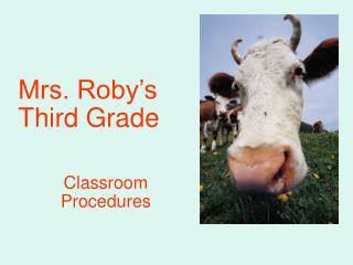 Mrs. Roby's Third Grade