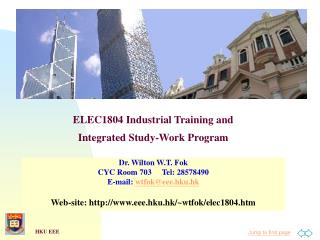 ELEC1804 Industrial Training and  Integrated Study-Work Program