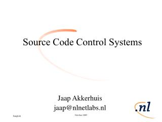 Source Code Control Systems