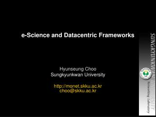 e-Science and Datacentric Frameworks