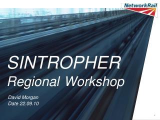 SINTROPHER  Regional Workshop