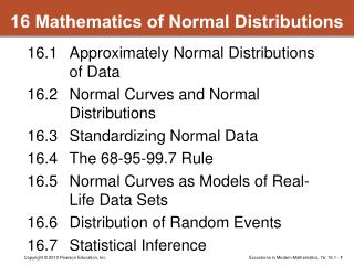 16 Mathematics of Normal Distributions