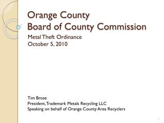 Orange County  Board of County Commission