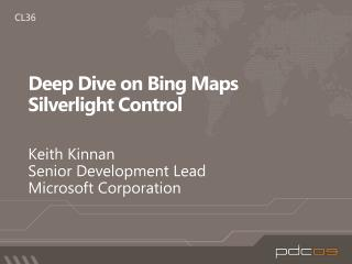 Deep Dive on Bing Maps Silverlight Control