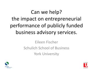 Eileen Fischer Schulich School of Business York University