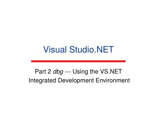 Visual Studio.NET
