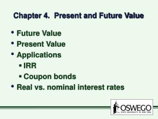 Chapter 4.  Present and Future Value