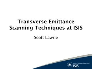 Transverse Emittance Scanning Techniques at ISIS