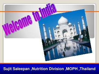 Sujit Saleepan ,Nutrition Division ,MOPH ,Thailand