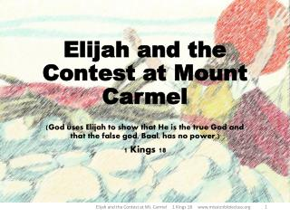 Elijah and the Contest at Mount Carmel