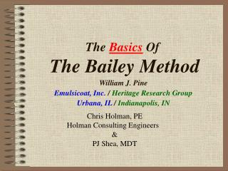 The  Basics  Of  The Bailey Method