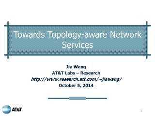 Towards Topology-aware Network Services