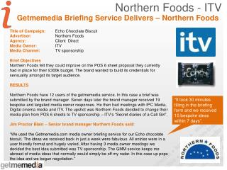Northern Foods - ITV
