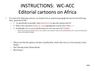 INSTRUCTIONS:  WC-ACC  Editorial cartoons on Africa