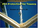 Fall Protection for Towers