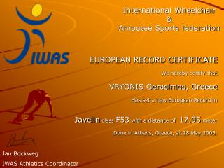 International Wheelchair & Amputee Sports federation
