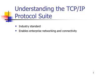 Understanding the TCP/IP Protocol Suite