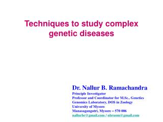 Techniques to study complex genetic diseases