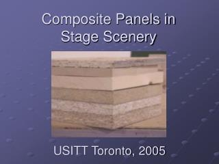 Composite Panels in  Stage Scenery