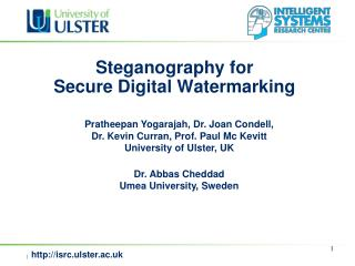 Steganography for  Secure Digital Watermarking