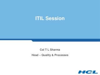 ITIL Session