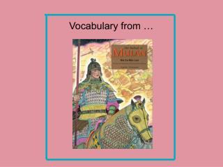 Vocabulary from …