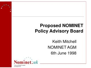 Proposed NOMINET Policy Advisory Board