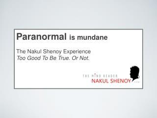 Paranormal is mundane