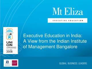 Executive Education in India: A View from the Indian Institute of Management Bangalore
