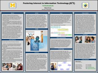 Fostering Interest in Information Technology htt://fit.umd.umich