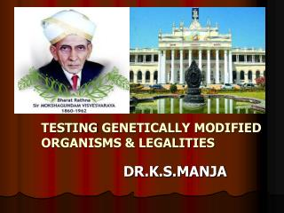 TESTING GENETICALLY MODIFIED ORGANISMS & LEGALITIES