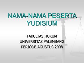 NAMA-NAMA PESERTA YUDISIUM