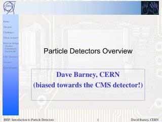 Particle Detectors Overview
