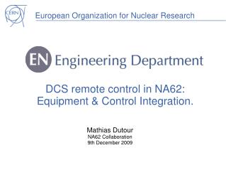 DCS remote control in NA62: Equipment & Control Integration.