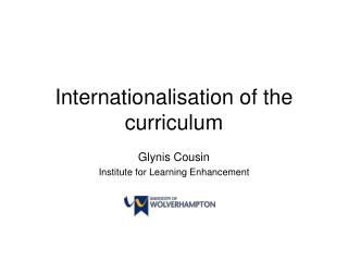Internationalisation of the curriculum