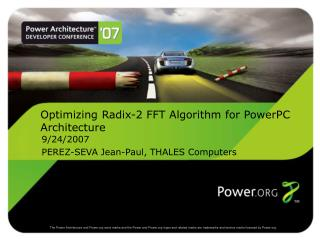 Optimizing Radix-2 FFT Algorithm for PowerPC Architecture