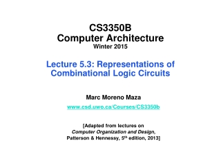 Lecture 5  Circuit Simplification