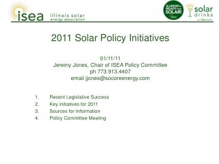 Recent Legislative Success Key initiatives for 2011 Sources for Information