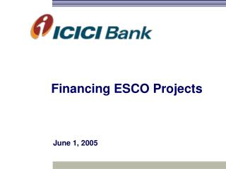 Financing ESCO Projects