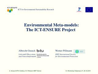 ICT for Environmental Sustainability Research