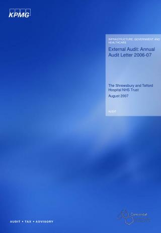 External Audit: Annual Audit Letter 2006-07